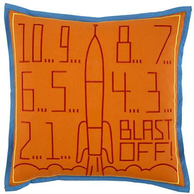 Blast Off Throw Pillow Cover