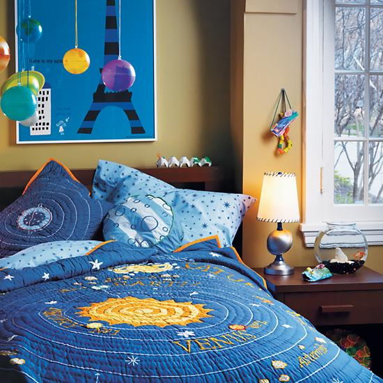 Solar System Bedroom : ... Colorful Hanging Glow in the Dark Solar System Kit  The Land of Nod