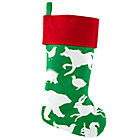 Green Silhouetto Animal Stocking
