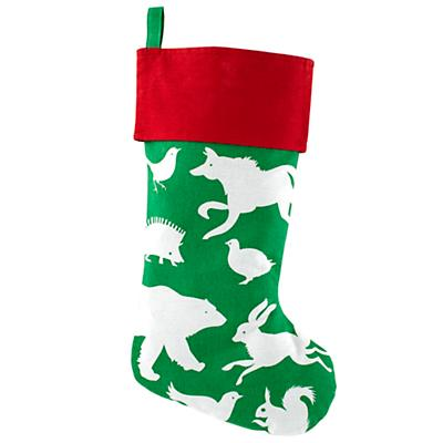 I See a Little Silhouetto Stocking (Green)