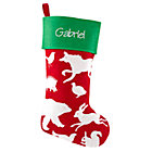 Personalized Red Silhouetto Animal Stocking