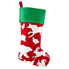 Red Silhouetto Animal Stocking
