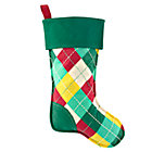 Argyle Bright Side Stocking by Jill McDonald