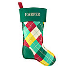 Personalized Argyle Bright Side Stocking by Jill McDonald