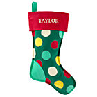 Personalized Dot Bright Side Stocking by Jill McDonald