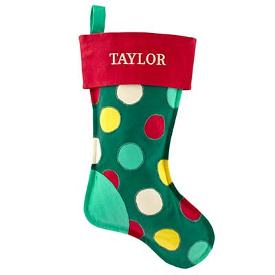 On the Bright Side Personalized Stocking (Dot)
