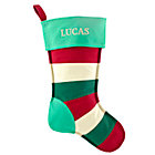 Personalized Stripe Stocking by Jill McDonald