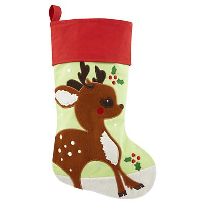 Holiday Cheer Stocking (Deer)