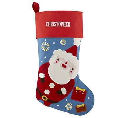 Personalized Holiday Cheer Stocking (Santa)