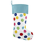 Blue Confetti Stocking