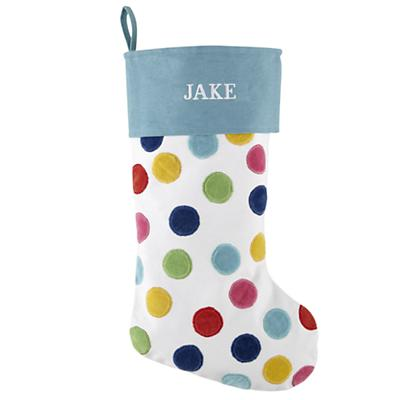 Personalized Confetti Stocking (Blue)