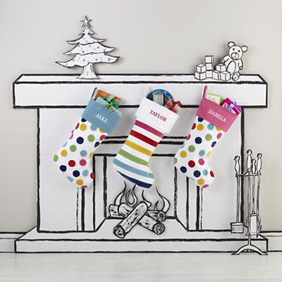Confetti Stocking (Blue)