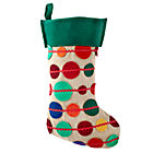 Green Connect the Dots Stocking