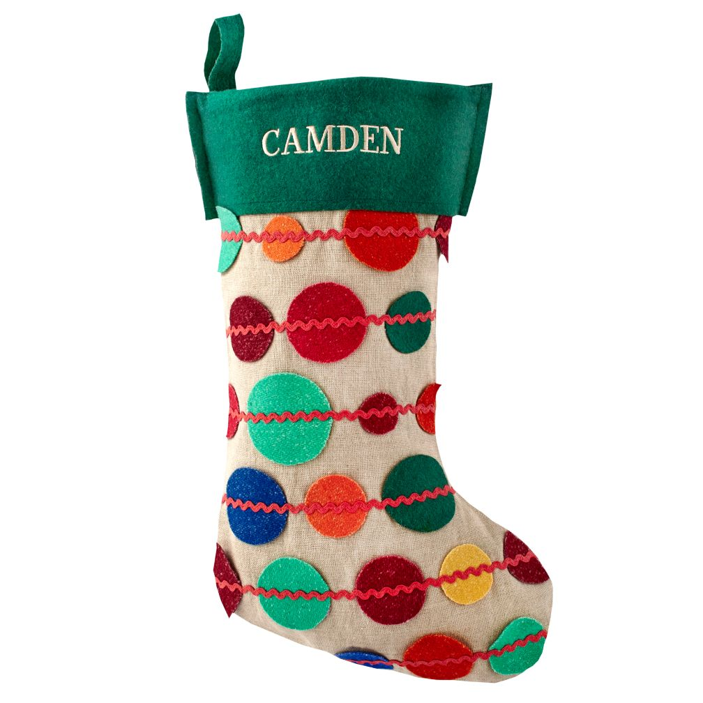 Connect the Dots Personalized Stocking (Green)