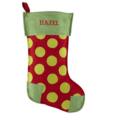 Personalized Dot Stocking