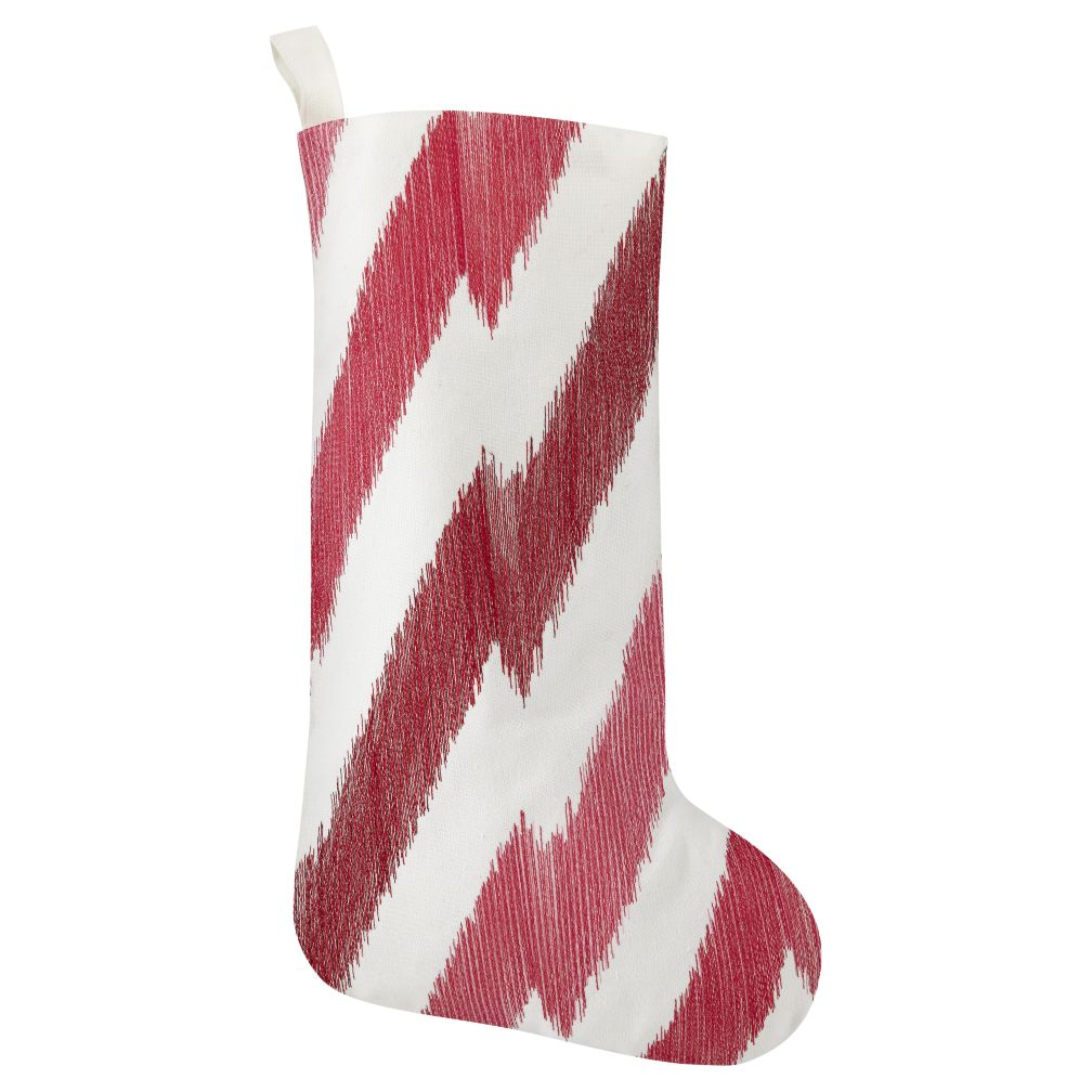 Zig Zag Stocking (Red)