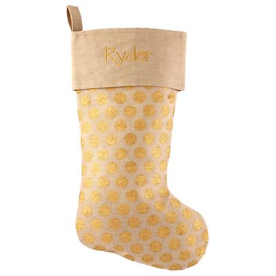 Golden Age Personalized Stocking (Dots)