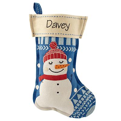 Holly Jolly Personalized Stocking (Snowman)