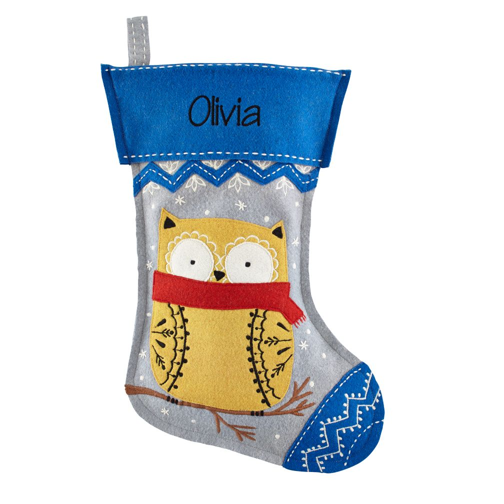 Jolly Ol' Stocking (Owl)