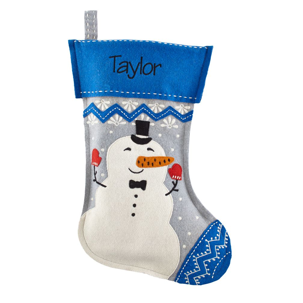 Jolly Ol' Stocking (Snowman)