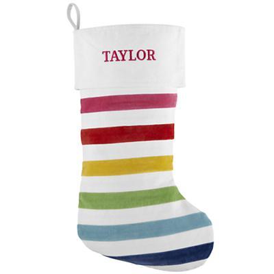 Personalized Rainbow Stocking