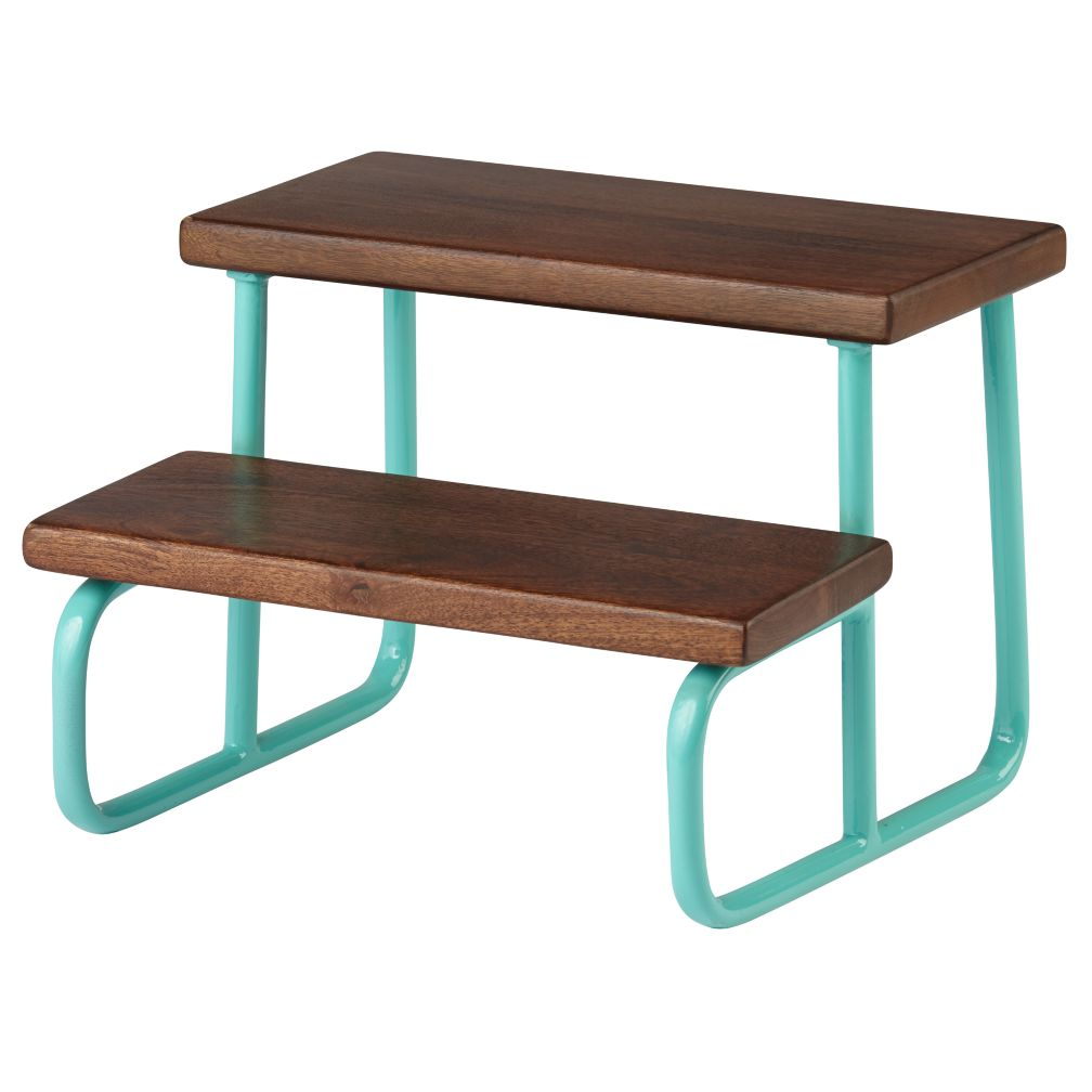 On the Double Step Stool (Aqua)