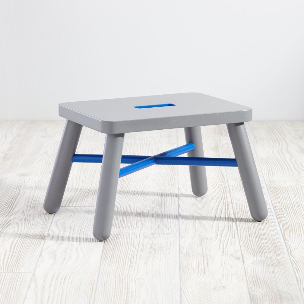 New Height Step Stool (Cobalt/Grey)