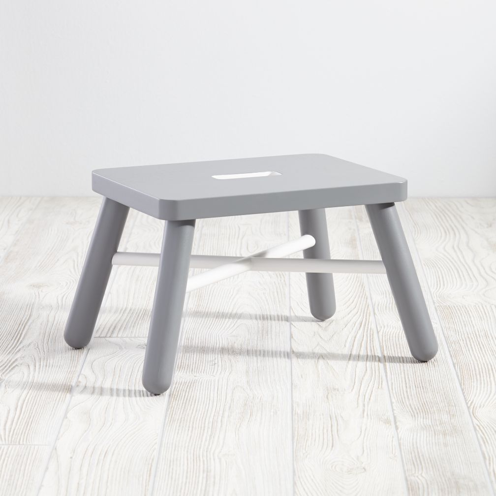 New Height Step Stool (White/Grey)