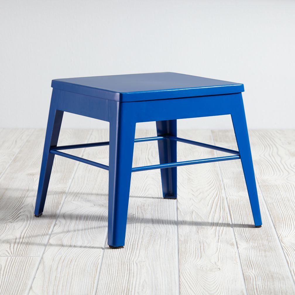 Squared Up Stool (Dk. Blue)
