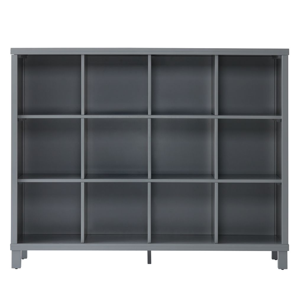 Grey 12-Compartment Cubic Bookcase
