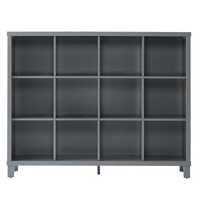 Cubic Tall Bookcase (Grey, 12-Cube)