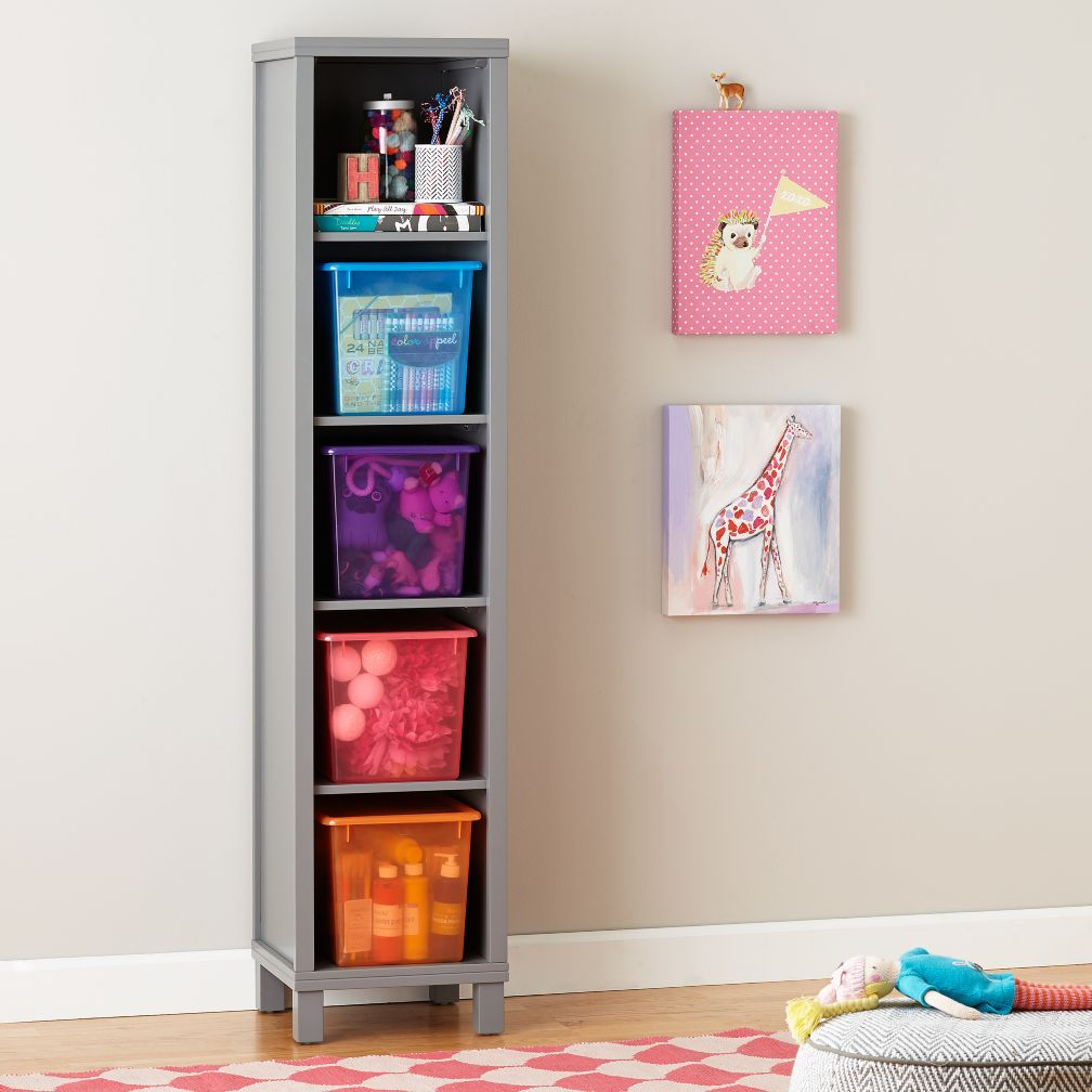 Cubic Bookcase (Grey, 5-Cube)