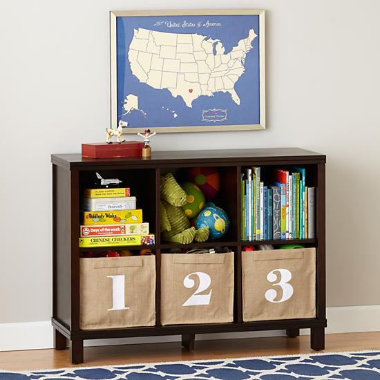 six cube wide bookcase brown the land of nod. Black Bedroom Furniture Sets. Home Design Ideas