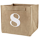 8 Store By Numbers Cube Bin