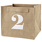 2 Store By Numbers Cube Bin