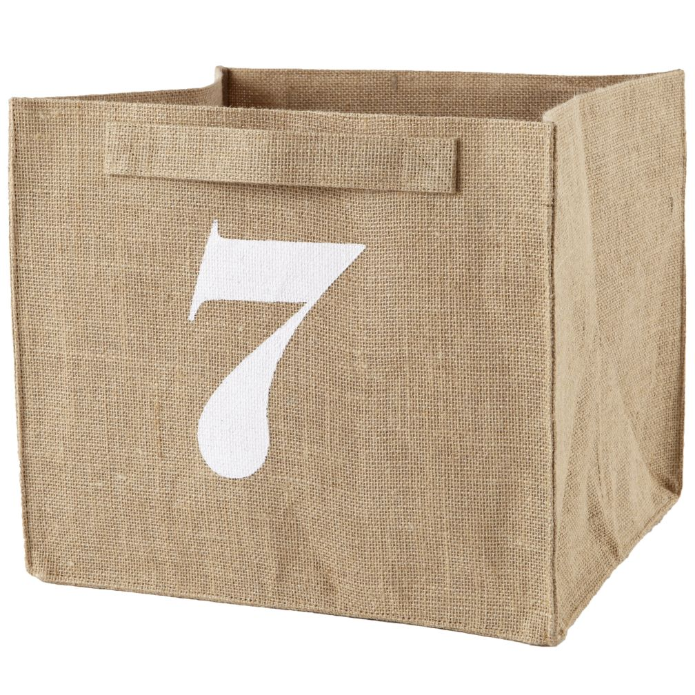 7 Store By Numbers Cube Bin