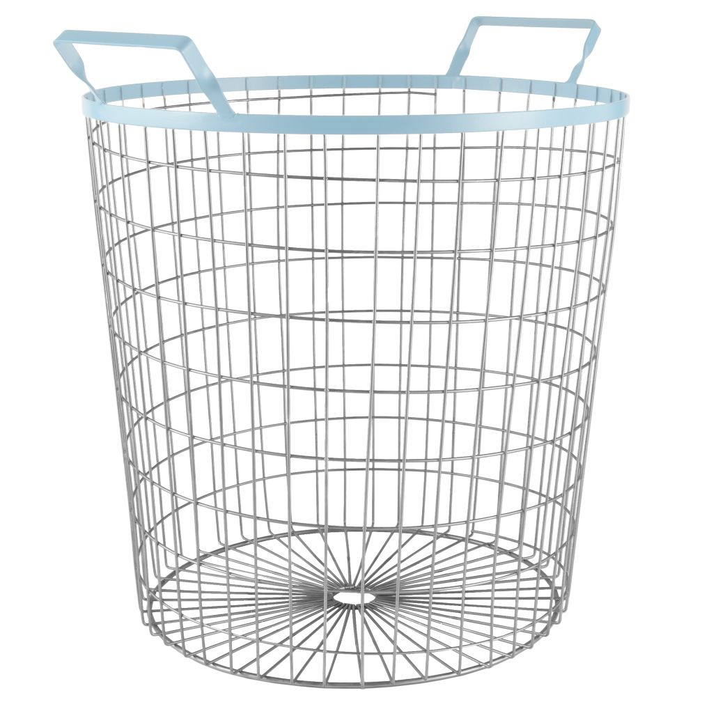 Wired Floor Bin (Lt. Blue)
