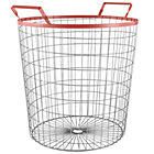 Red Wired World Floor Bin