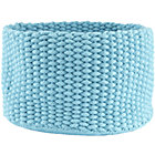 Medium Aqua Kneatly Knit Rope Bin