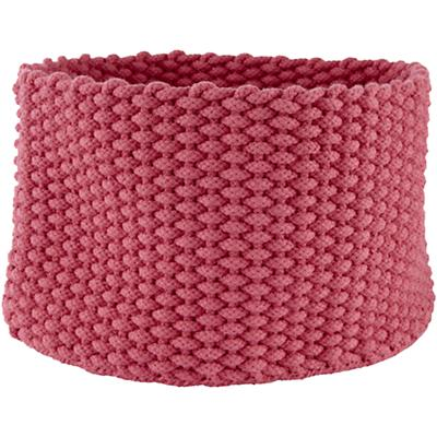 Medium Kneatly Knit Rope Bin (Pink)