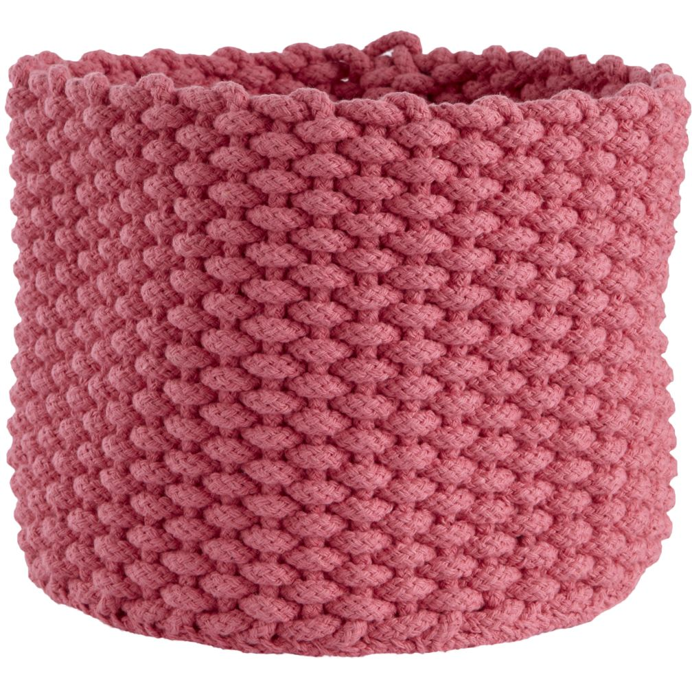 Small Kneatly Knit Rope Bin (Pink)