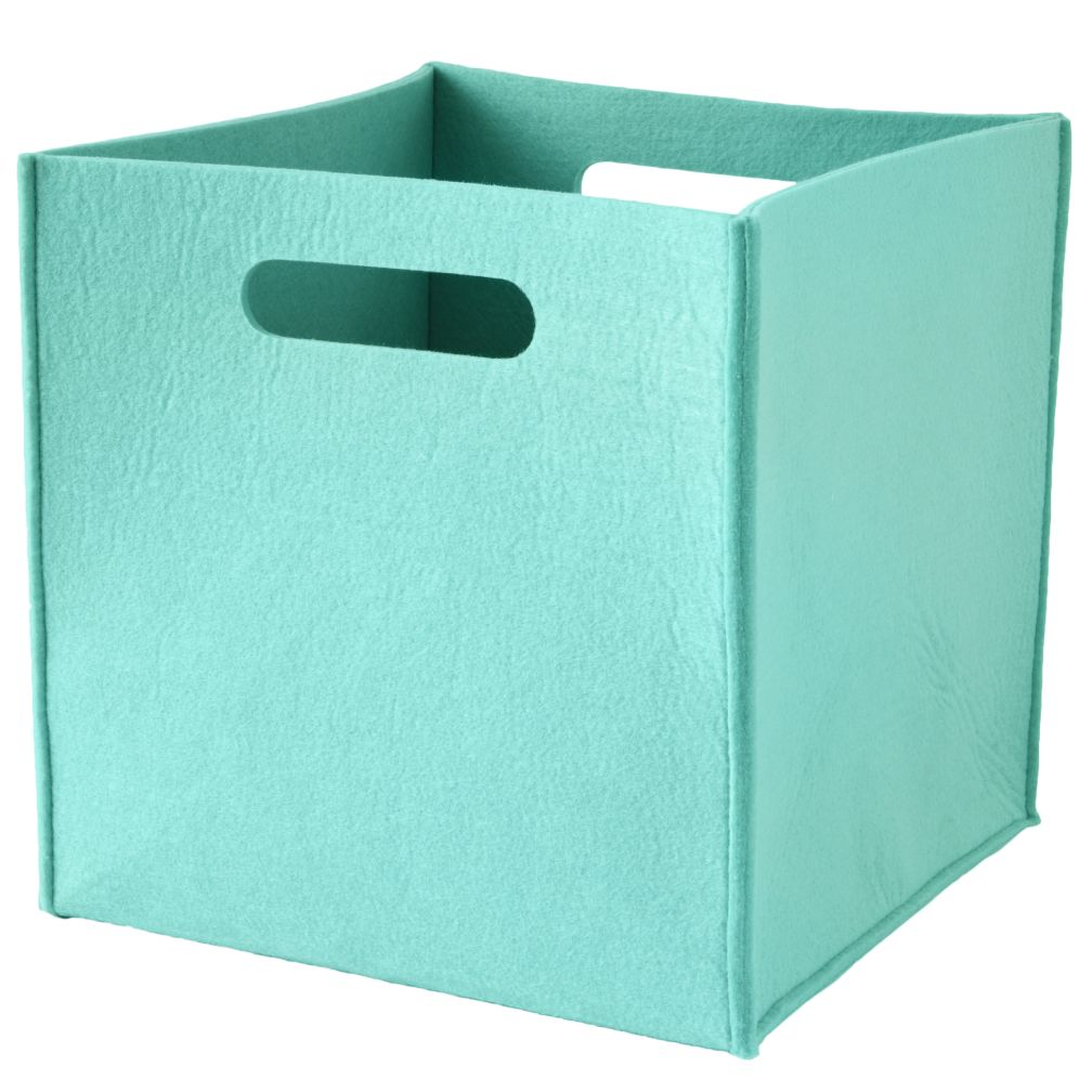 Once More with Felting Cube Bin (Aqua)