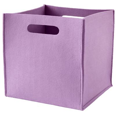 Once More with Felting Cube Bin (Purple)