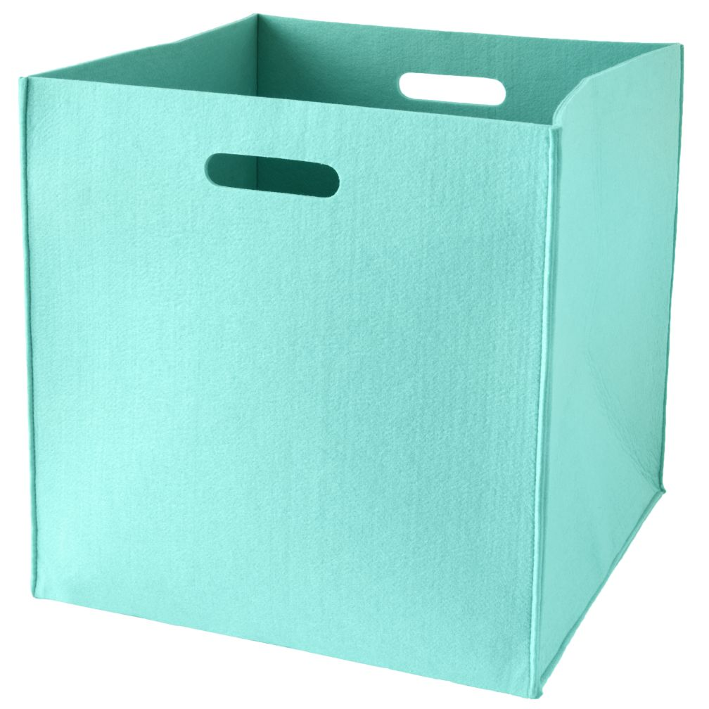 Once More with Felting Floor Bin (Aqua)