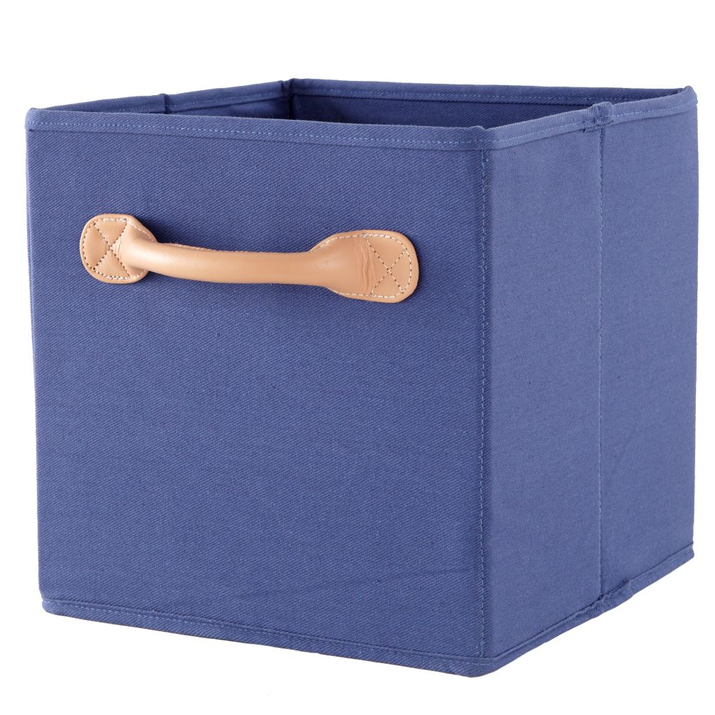 We're Not Just Canvas Anymore Cube Bin (Blue)