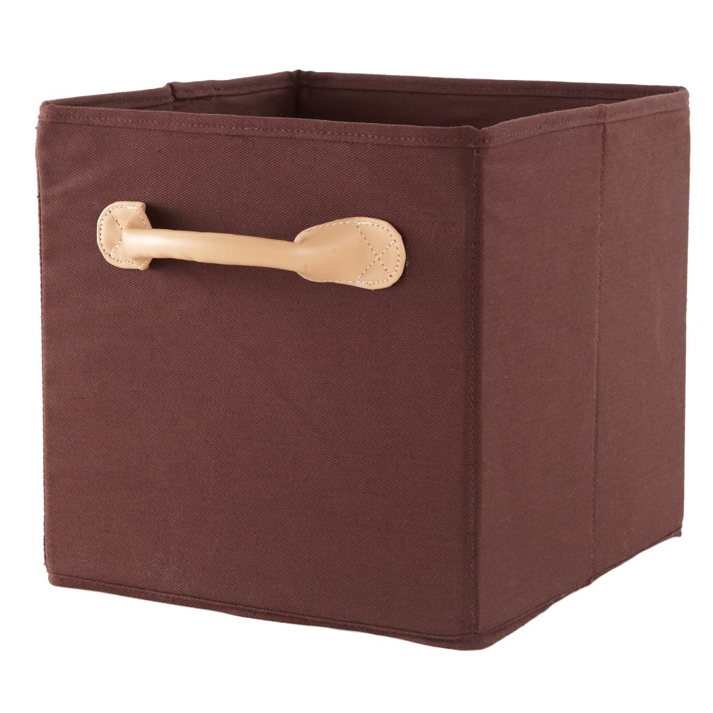 We're Not Just Canvas Anymore Cube Bin (Brown)