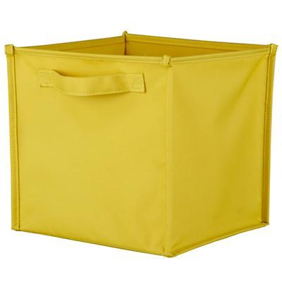 I Think I Canvas Canvas Cube Bin (Yellow)