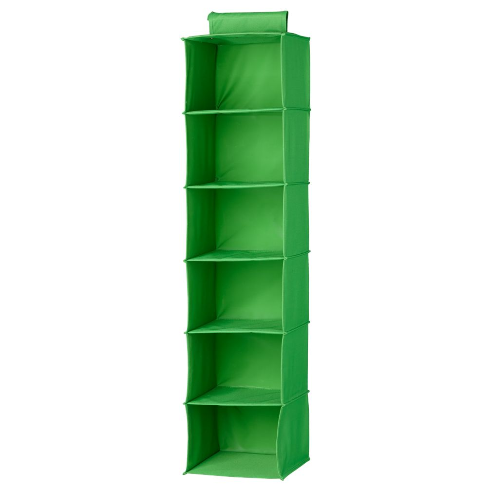 I Think I Canvas Wide Hanging Organizer (Bright Green)