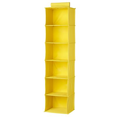 I Think I Canvas Wide Hanging Organizer (Yellow)
