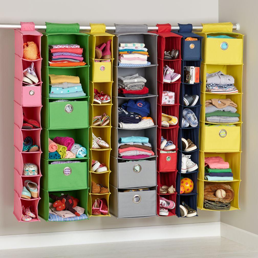 Kids closet storage hamper storage the land of nod for Where to buy closet organizers